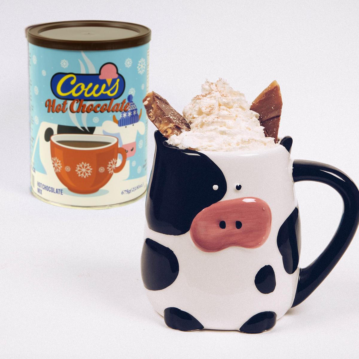 COWS Hot Chocolate and Filled Mug